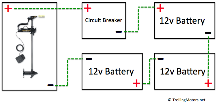 24 And 36 Volt Wiring Diagrams Trolling Motor Diagram Marine Batteries