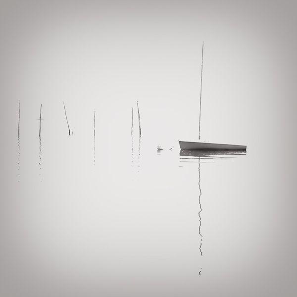 a lone boat.
