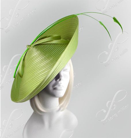 Royal Ascot Profile Dish Fascinator with Signature Accents -  3 Colors