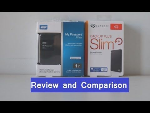 Seagate Backup Plus Slim VS WD My Passport Ultra 1TB Hard