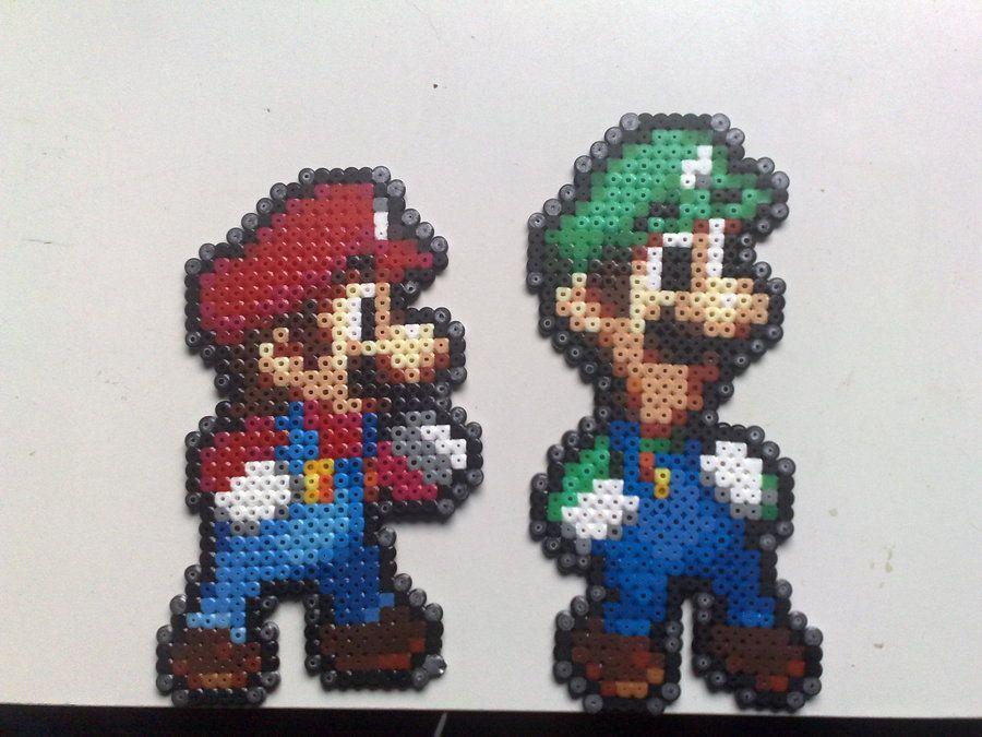 Perler Beads Mario And Luigi By Nick3529 On Deviantart