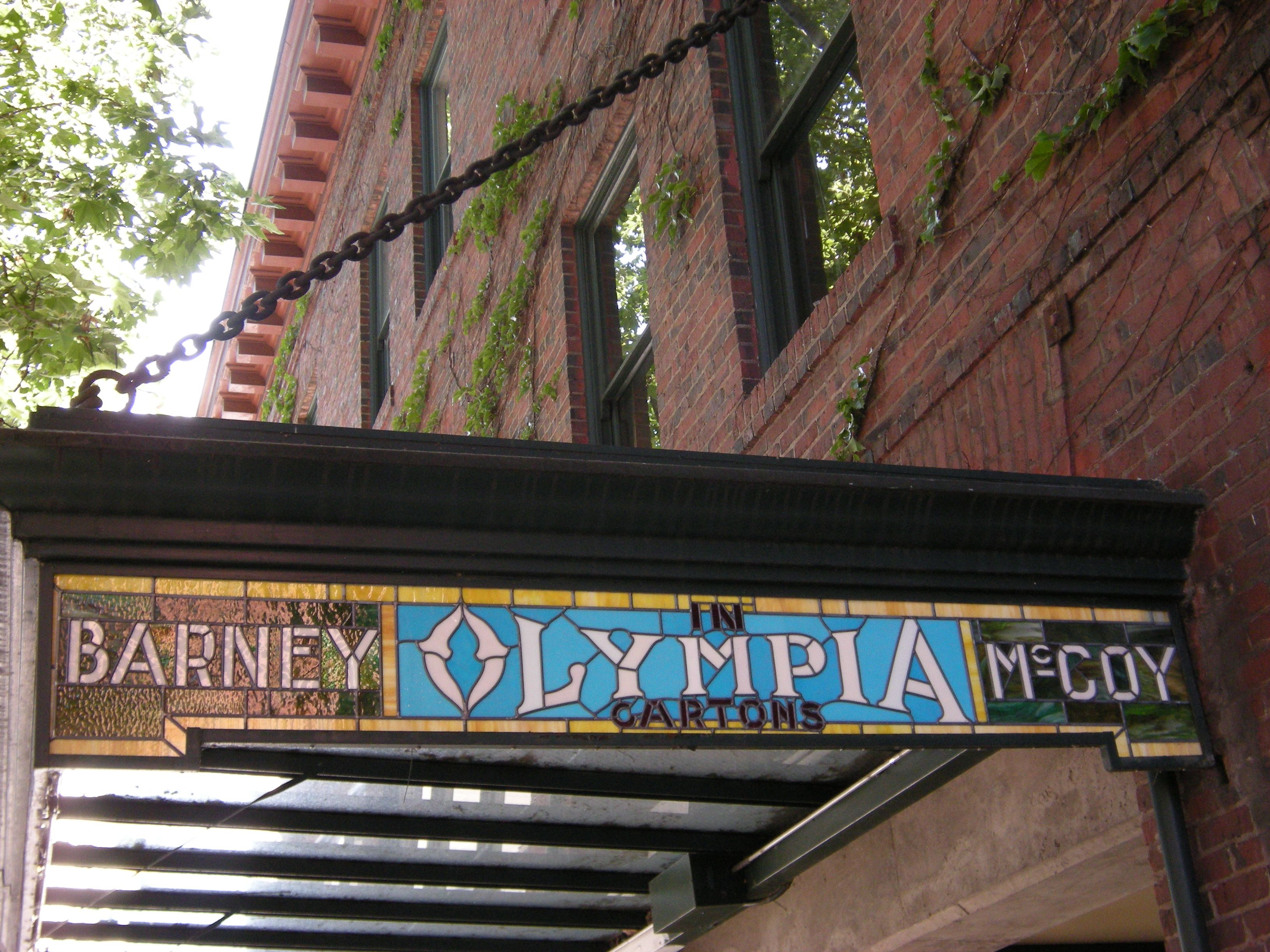 Metal Flat Awning With Chain Barney Olympia Mccoy Historical Awning Olympia