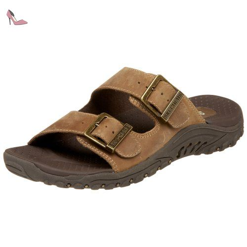 Skechers Eggae Jammin Brun Confort - Tongs Claquettes - Marron - Taille 38 NNPLNt
