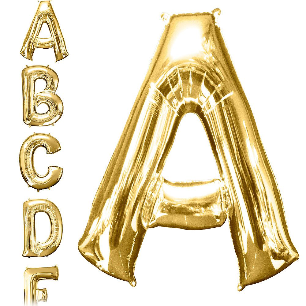 34in Gold Letter Balloon (A) in 2019 | Birthday -- Stuff
