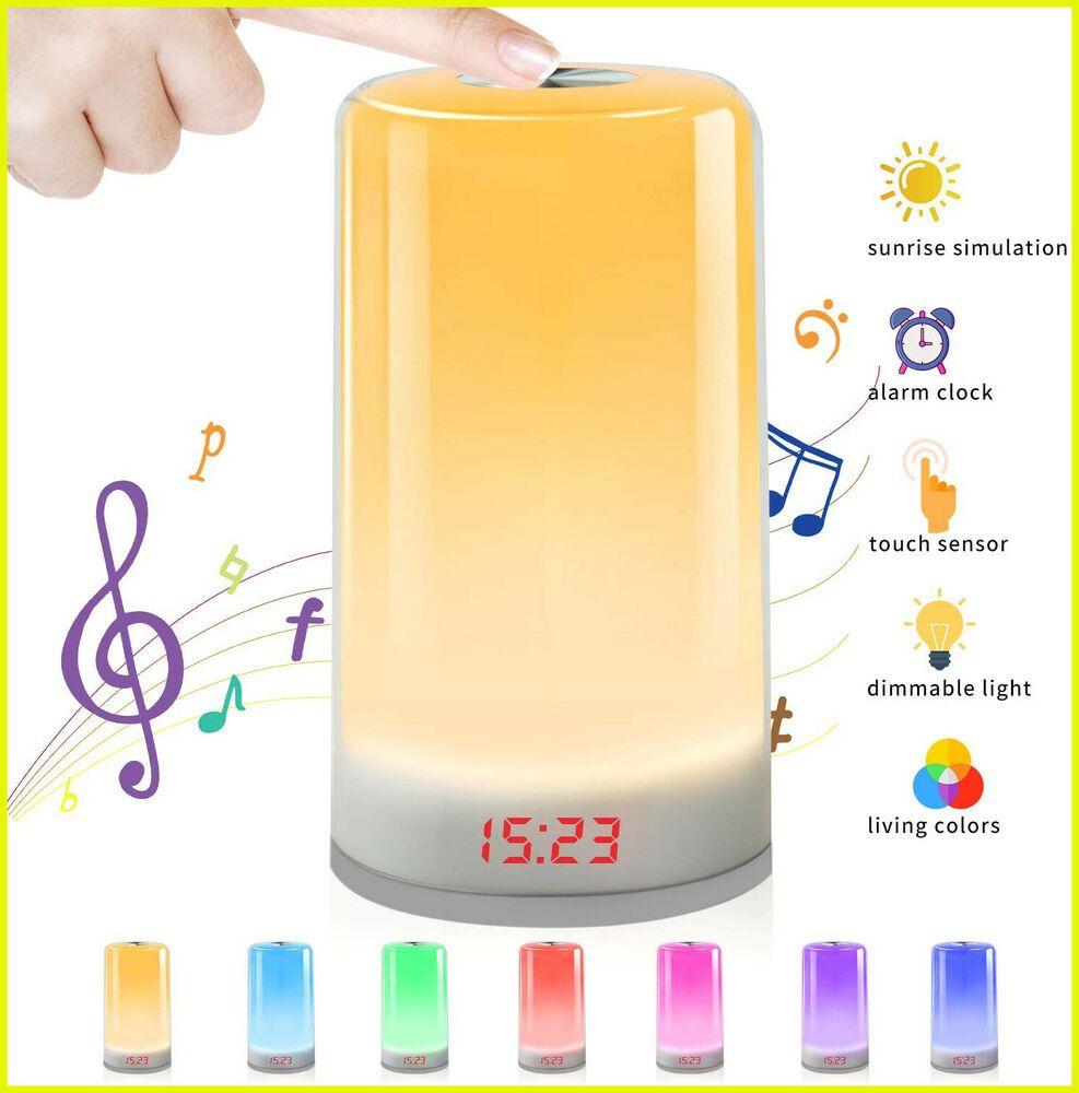 Wake Up Light Sunrise Simulation Alarm Clock With 5 Nature Sound 3 Brightness L Ebay In 2020 Alarm Clock Modern Alarm Clock Clock
