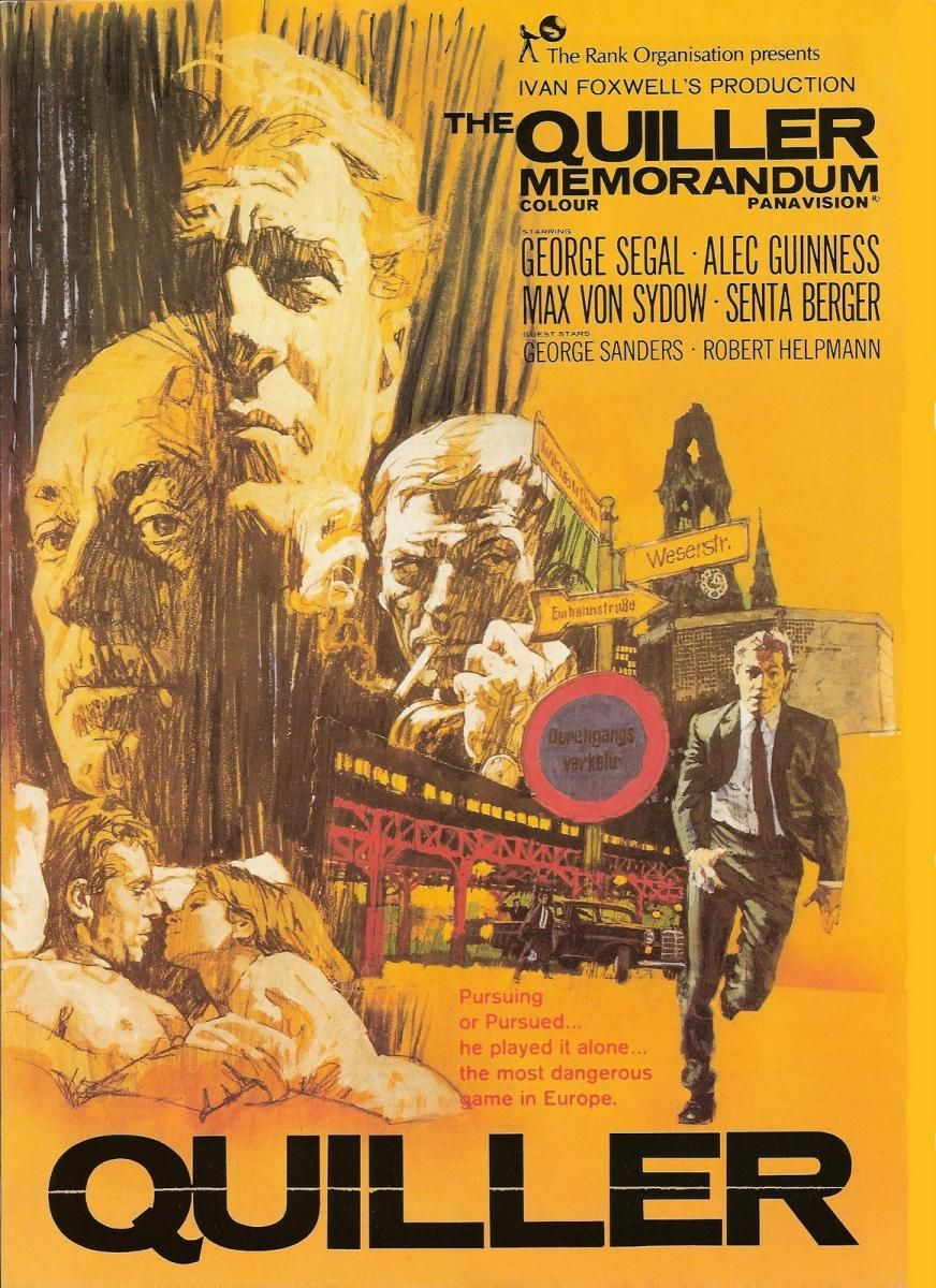 The Quiller Memorandum  Crime Drama Mystery  George Segal