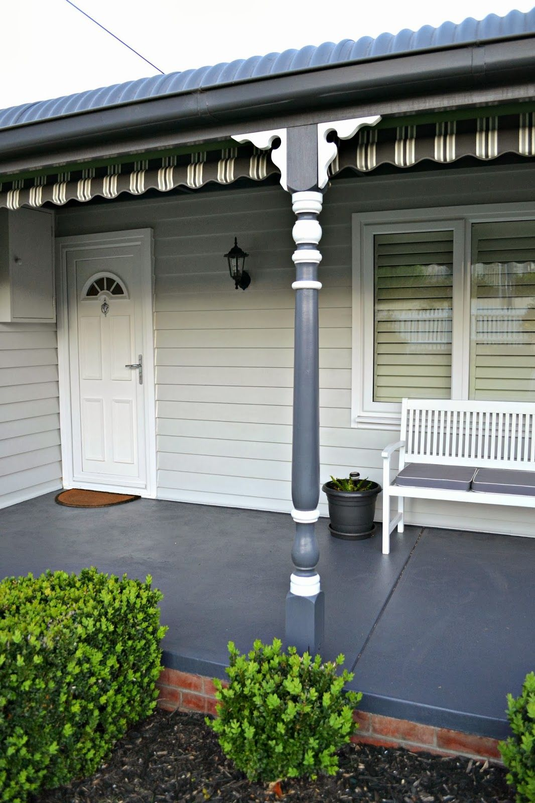 In the night sky the front verandah finally a painted for Verandah house
