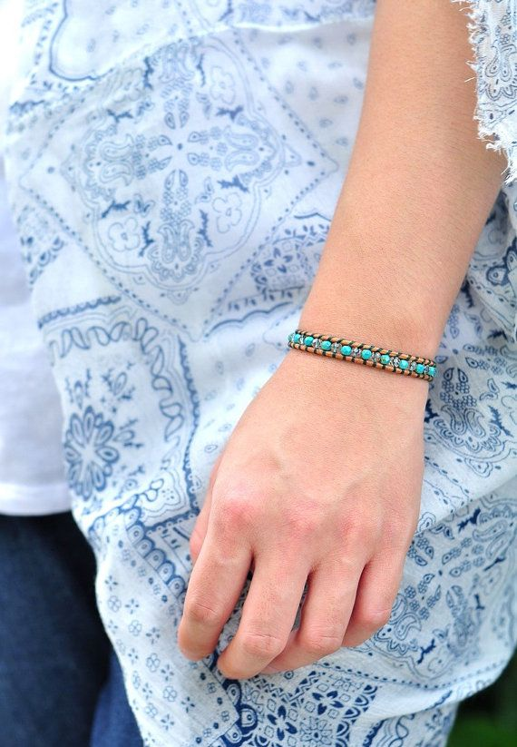 Couple pieces left of this and perfect for the Summer! - Turquoise Mix Singles by DiliyaB on Etsy