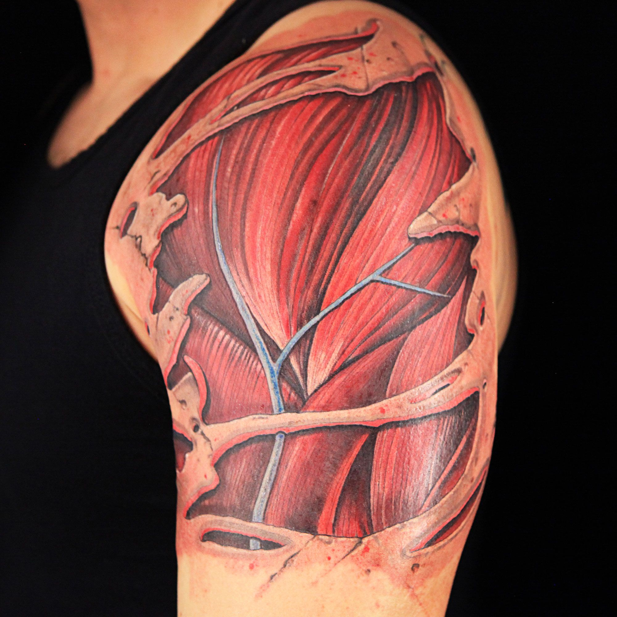 Realistic Medical Anatomical Tattoo by Craig Foster (With