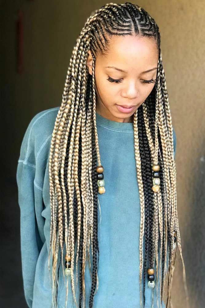 Fulani Braids vs Alicia Keys Braids vs Braids with Beads    This look is essentially braids with beads, but the braid patterns used are inspired by the Fulani people–a primarily Muslim, traditionally pastoral ethnic group in Africa that's scattered throughout West Africa and parts of East Africa. Alicia Keys sported this style of braids when she made her music debut in 2001 with the award-winning song Fallin'. # alicia keys Braids with beads Fulani Braids (Braids With Beads), Everything You Need
