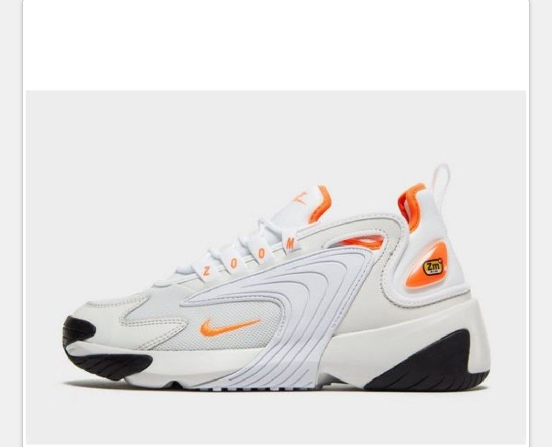 nike zoom 2k white and orange
