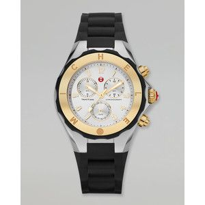 MICHELE Tahitian Large Jelly Bean Two-Tone Chronograph