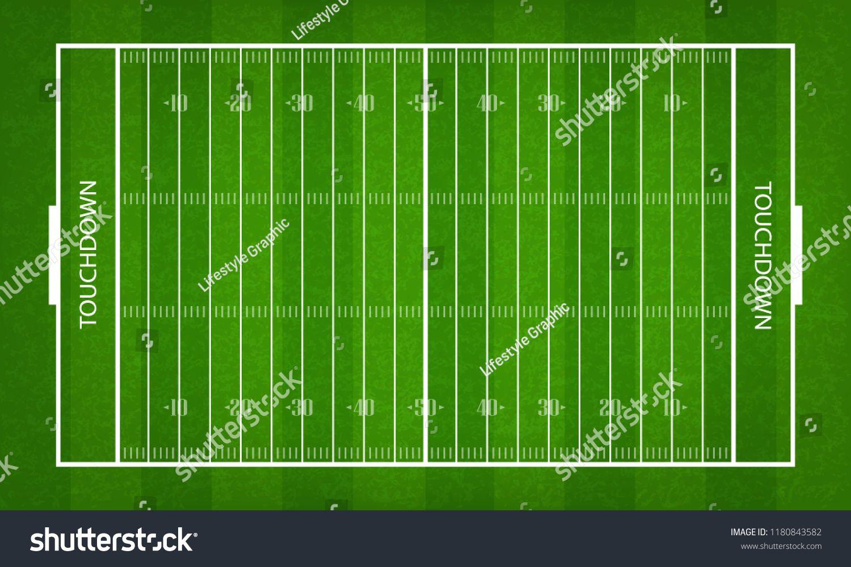 American football field green grass pattern and texture