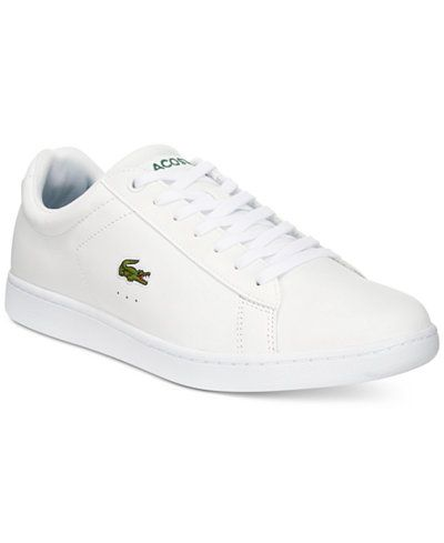 52dbdc8266deab Lacoste Men s Carnaby Evo Canvas Low-Tops