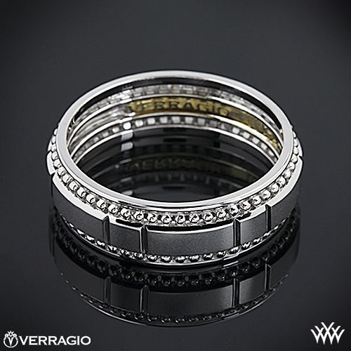verragio beaded dual chamber wedding ring this mens verragio wedding ring features - Verragio Wedding Rings