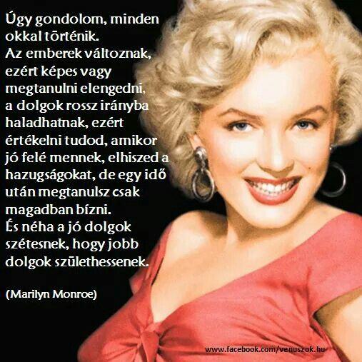 marilyn monroe idézetek magyarul Idézetek | Beauty girl, Marylin monroe, Beauty