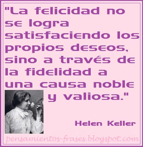Frases Célebres La Felicidad Helen Keller Ecards