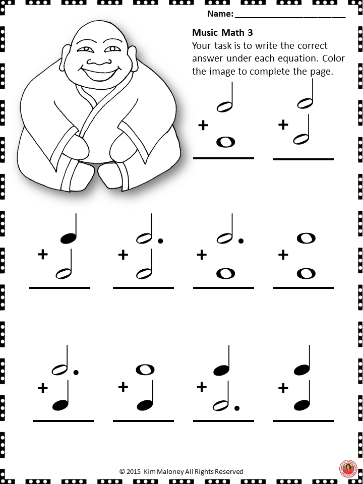 Music Math with a Chinese New Year Theme! 24 worksheets