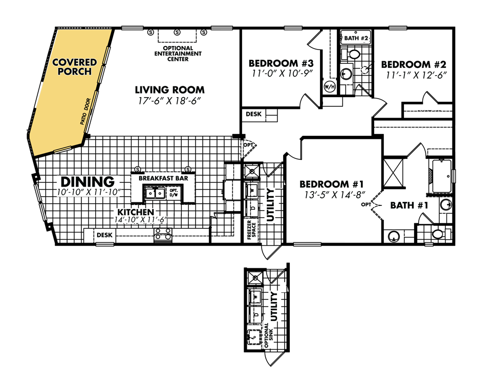 Double Wide Mobile Home Floor Plans Mobile Home Floor Plans On Floor With Mobile Home Floor Plans House Floor Plans Floor Plans