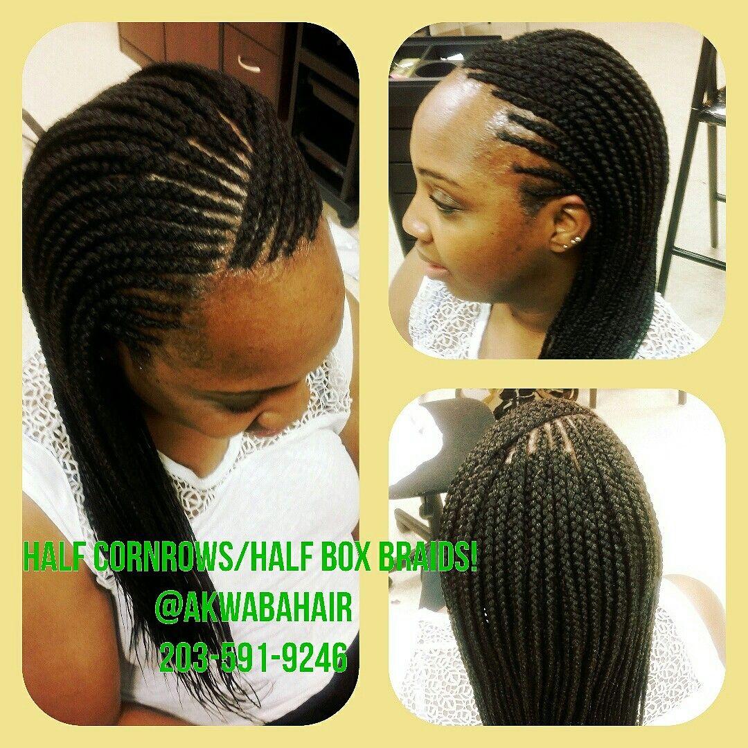 cornrows!/box braids! #hairdoneright @akwabahair 1471 baldwin st