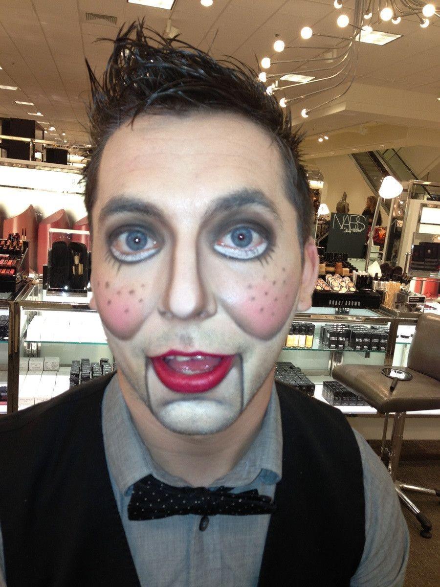 Ventriloquist Dummy Makeup Puppet makeup, Halloween