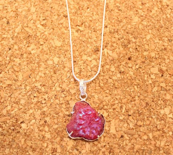 Natural Agate Necklace Red Orange Stone Sterling Silver Snake Chain Cobochon Pendant