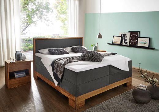 Schlafzimmer Wenge ~ Boxspringbett rebecca schlafzimmer bett antikoptik grau mit topper