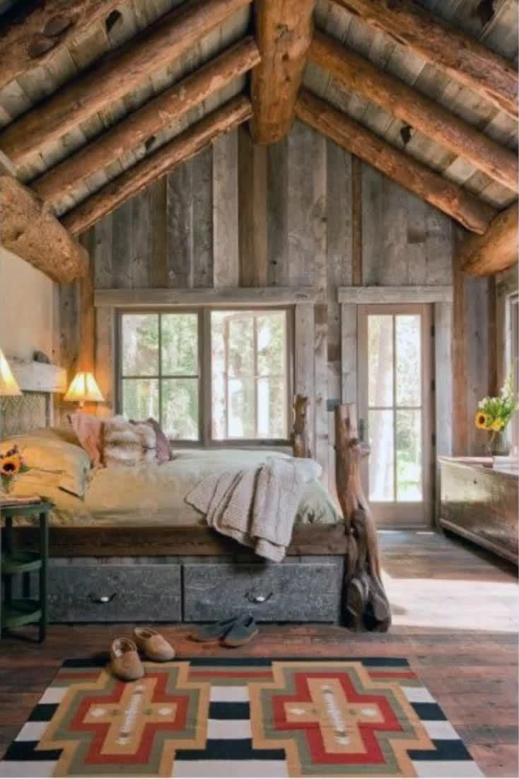Photo of Top 40 Best Rustic Bedroom Ideas – Vintage Designs