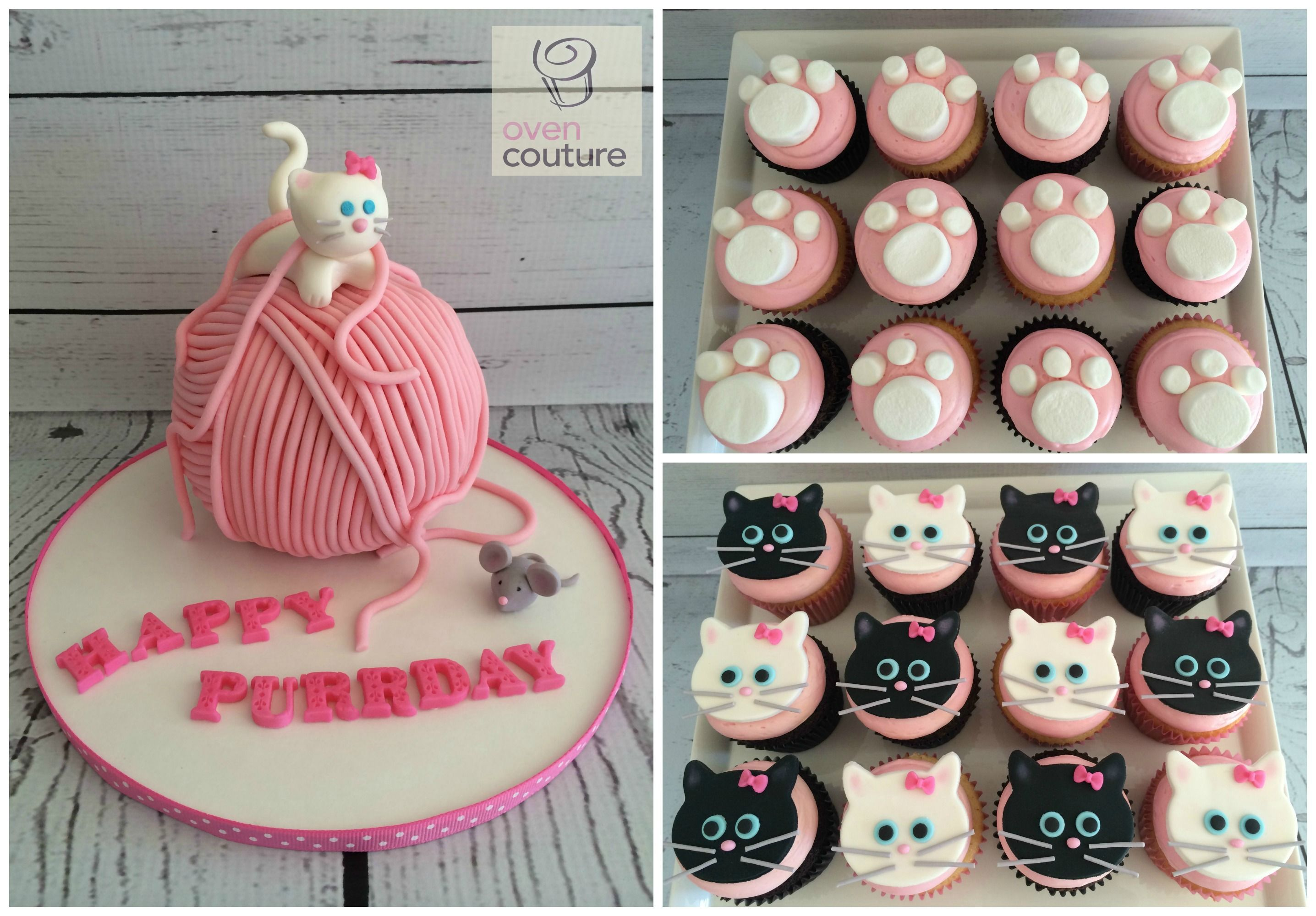 Kitten Party Cake & Cupcakes by Oven Couture https://www.facebook.com/Oven-Couture-Smallish-Confection-Perfection-239221606110260/