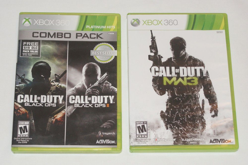 Call of Duty XBOX 360 lot Black Ops 1 & 2 Combo Pack + COD