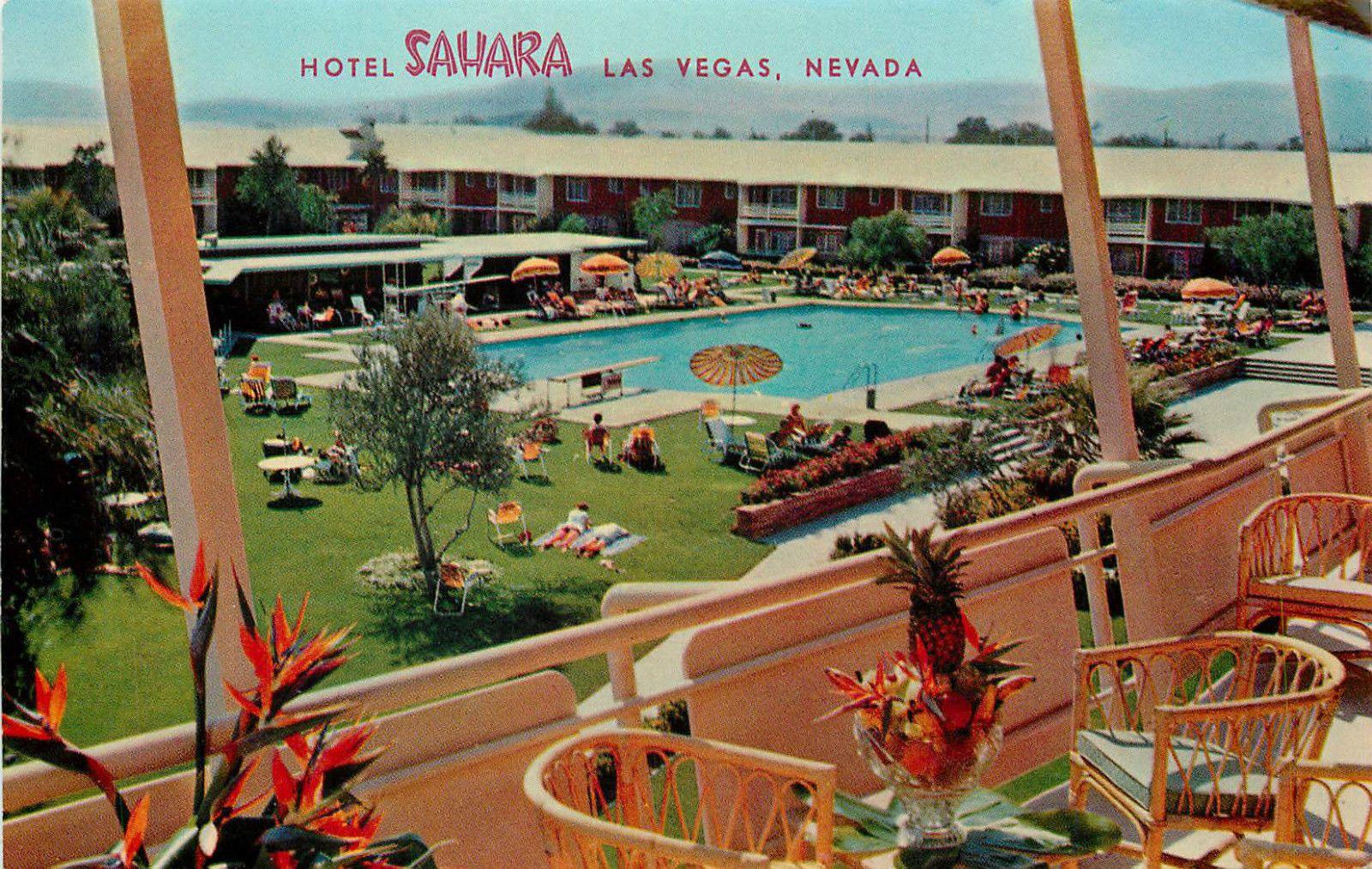 Las Vegas Nv Sahara Hotel Casino Swimming Pool Chrome P C