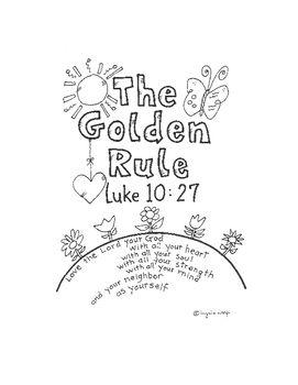 The Golden Rule Activity Booklet Luke 10:27 | Golden Rule