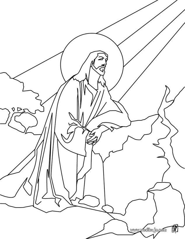 Dibujo para colorear : Jesús en el Monte de los Olivos | Gráficos ...