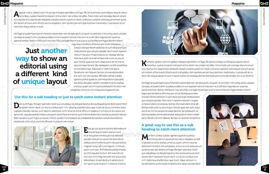 Extrêmement Bilderesultat for magazine pages layout | MA01-Magazine  RN25