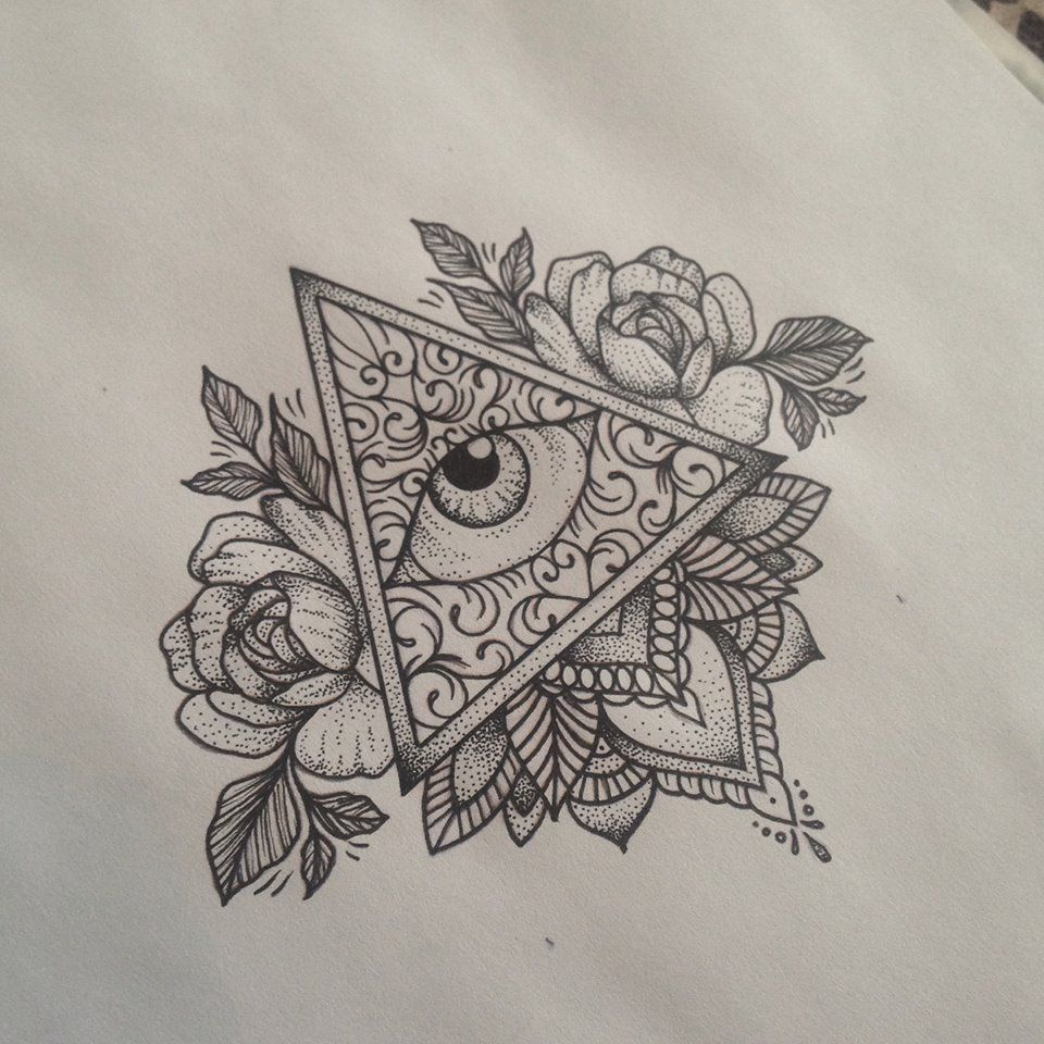 All Seeing Eye Tattoo by Medusa Lou Tattoo Artist