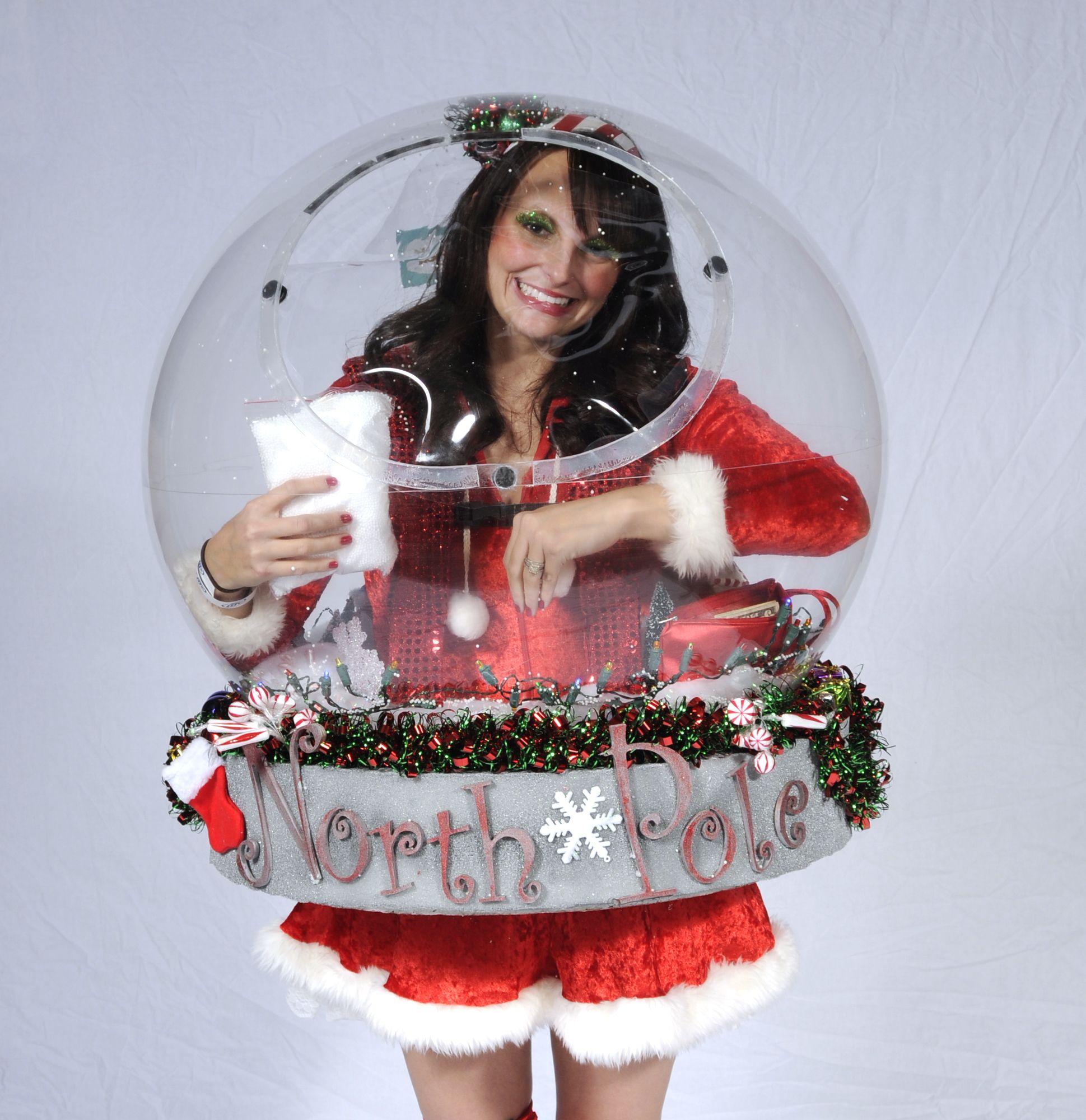 Shanen Norlin, 24, as a Snow Globe. Cool halloween