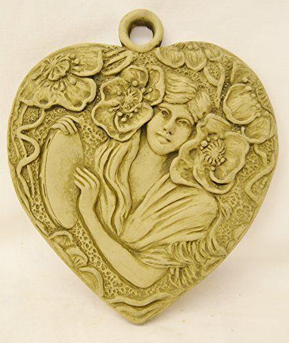 Alice Art Nouveau Wall Plaque-Garden Ornament-Woman Figure-Sculpture ...