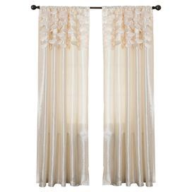 Julissa Curtain Panel in Ivory (Set of 2)