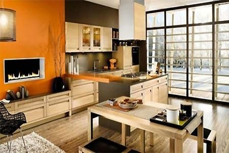 dark gray and orange paint colors for modern interior decorating