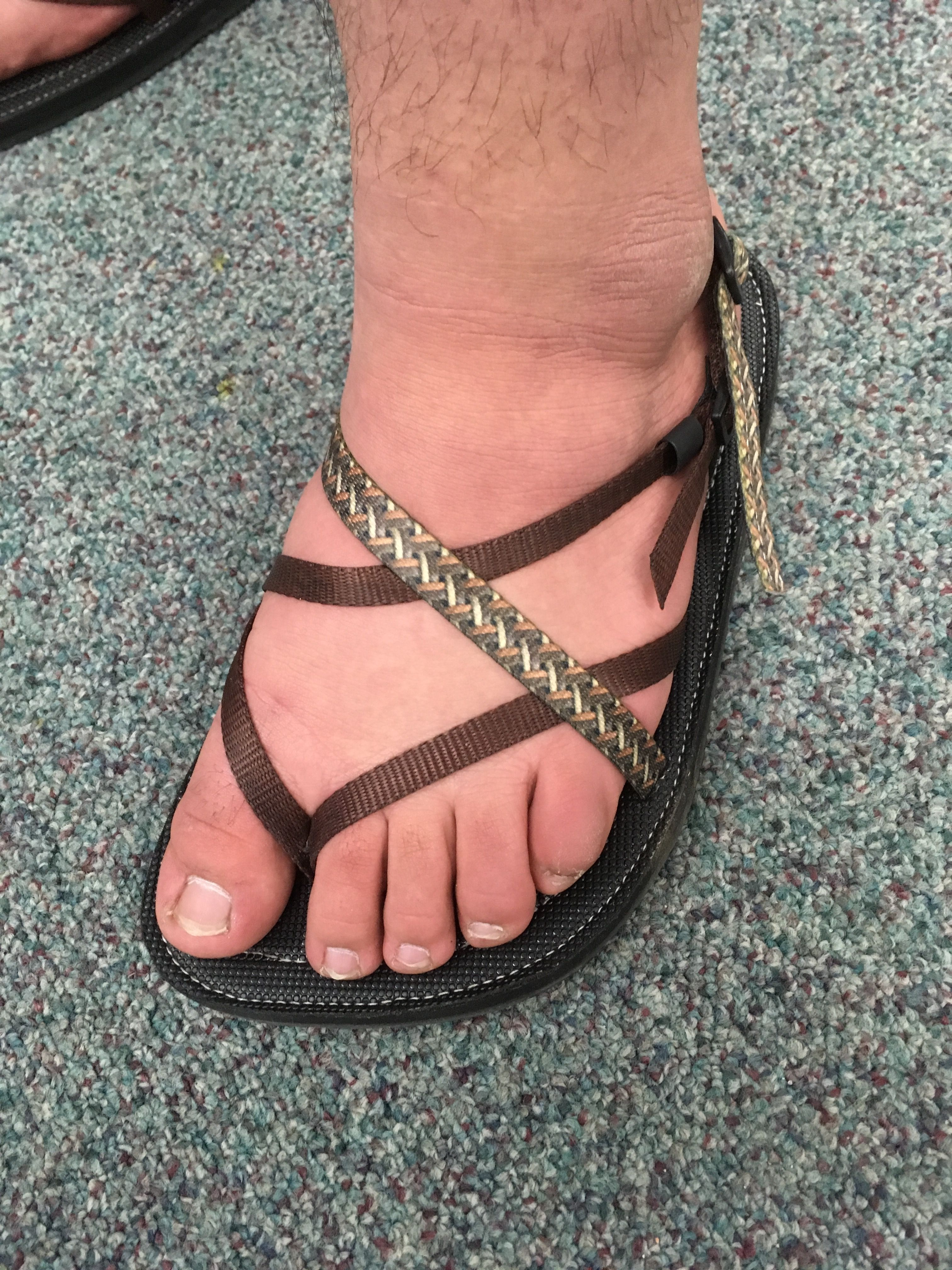 Custom sandals for extra wide foot