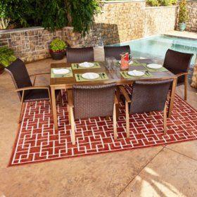 Sam's Club - Modern 7-Piece Outdoor Dining Set