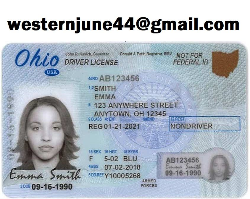 Ohio Fake Driver License Ohio Fake Id In 2021 Drivers License Licensing Blank Id Cards