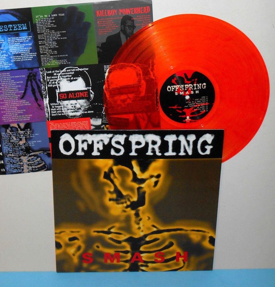 Offspring Smash Lp Record Orange Vinyl With Lyrics Insert W Didjits Cover Trk
