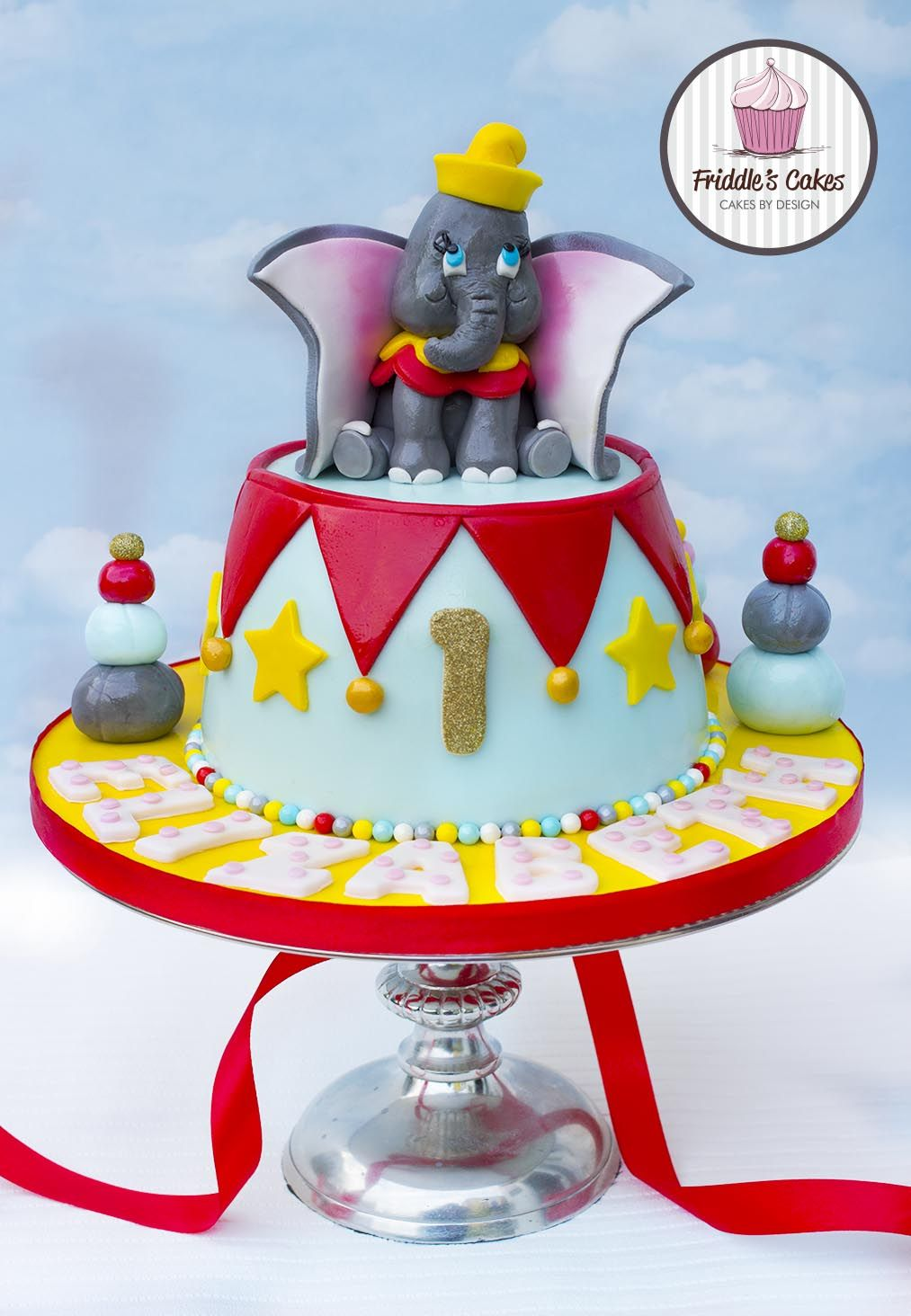 Awesome Dumbo Birthday Cake Baby Boy Birthday Cake Designs Cake Birthday Cards Printable Trancafe Filternl