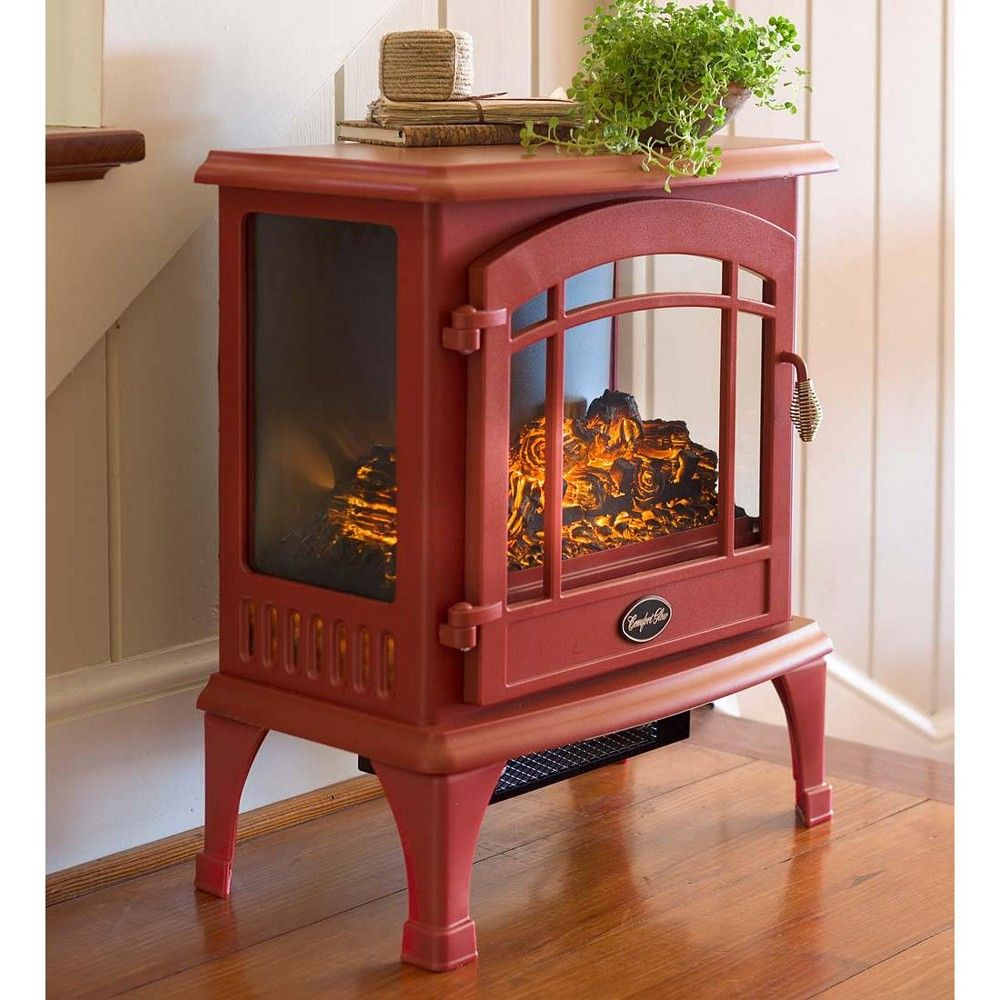 Panoramic Quartz Infrared Stove Heater Cranberry Plow