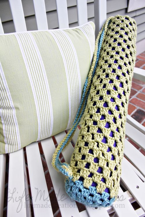 Life Made Creations: crochet yoga mat bag | Crochet - Other Stuff ...