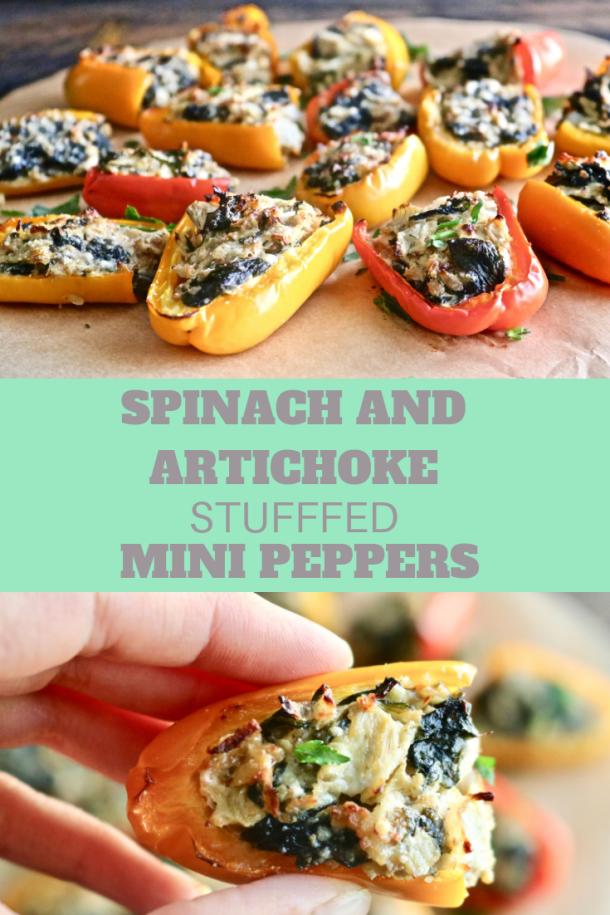 Spinach And Artichoke Stuffed Mini Peppers