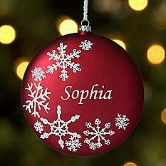 Snowflake Birthstone Ornament