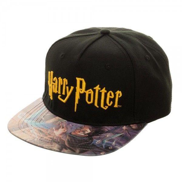 Harry Potter  Printed Vinyl Bill Snapback  Cap a48f40d3b50f