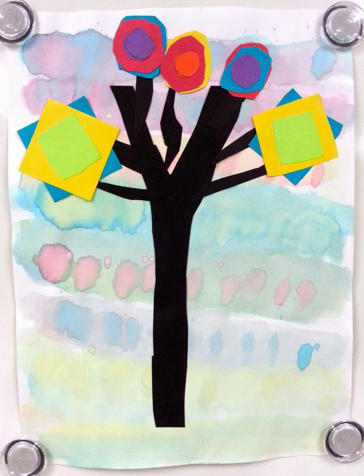 Color Mixing Trees 1st